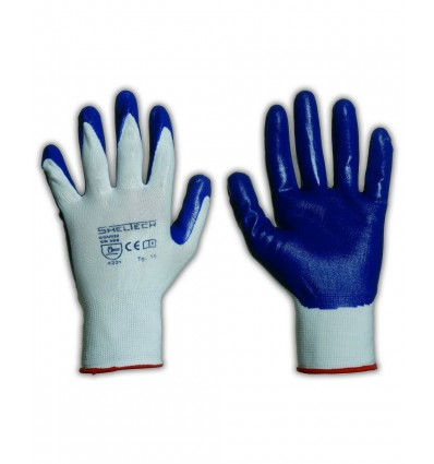 Guanti NYLON BIANCO/NITRILE ROYAL Sheltech